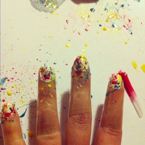 Splatter nails mess