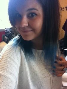 Blue Dip Dye
