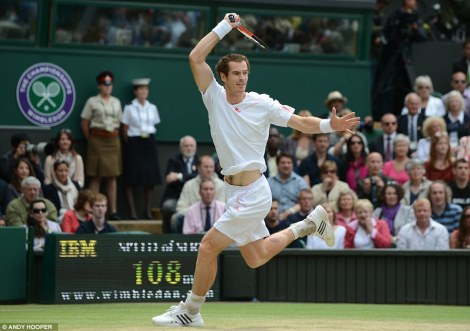 Andy Murray, putting on a great game at Wimbledon