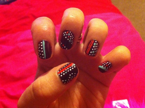Dots and Stripes Nails