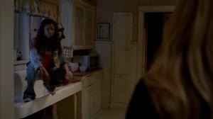 Tara as an angry vampire